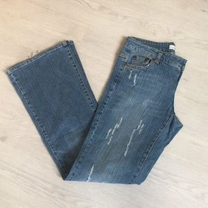 Cache wide bottom jeans
